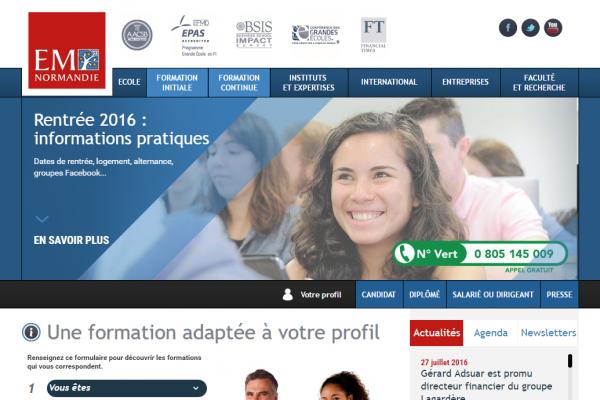 Partenariat avec l'Ecole de Management de Normandie